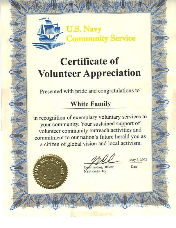Volunteer Certificate Of Appreciation About Me