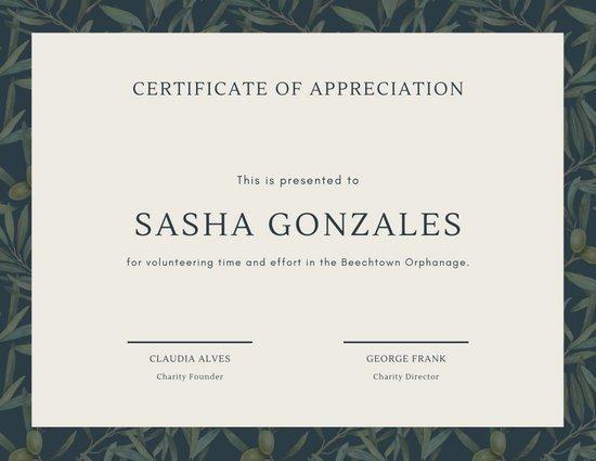 Volunteer Certificate Of Appreciation Customize 63 Appreciation Certificate Templates Online