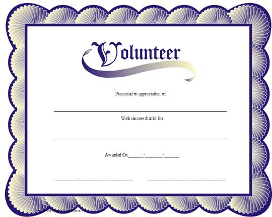 Volunteer Certificate Of Appreciation Volunteer Appreciation Certificates Line Signup Blog