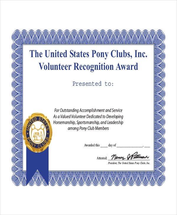Volunteer Certificate Of Appreciation Volunteer Certificate Template 9 Word Pdf Psd Ai