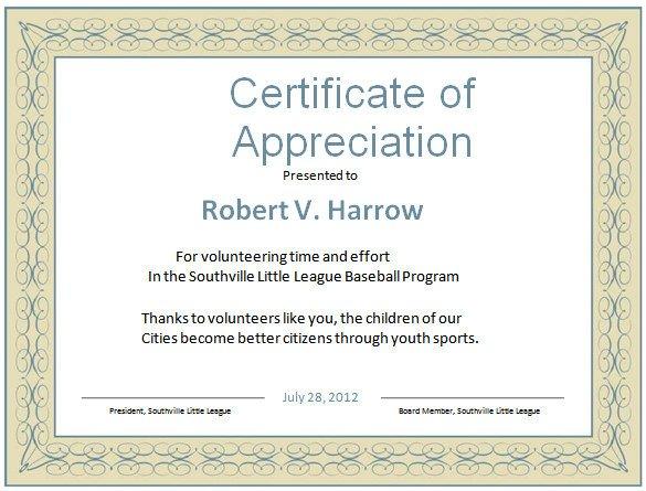 Volunteer Certificate Of Appreciation Word Certificate Template 49 Free Download Samples