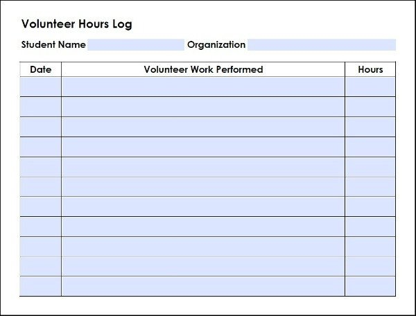 Volunteer Hours form Template Homeschool High School Volunteer Log Walking by the Way