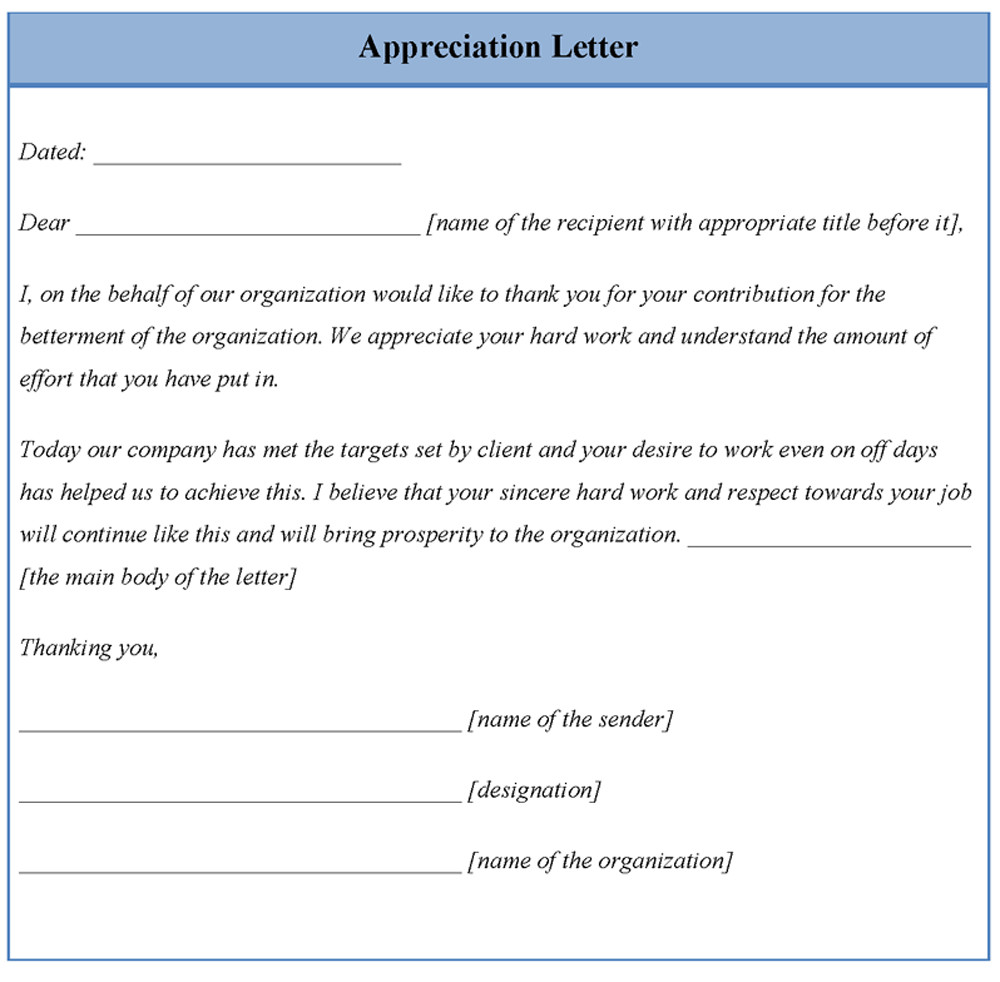 Volunteer Letter Of Appreciation Best S Of Volunteer Appreciation Letter Templates