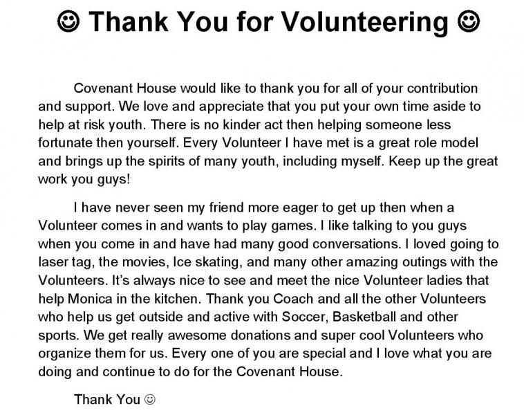 Volunteer Letter Of Appreciation Letter Of Appreciation for Volunteering Sample & Templates