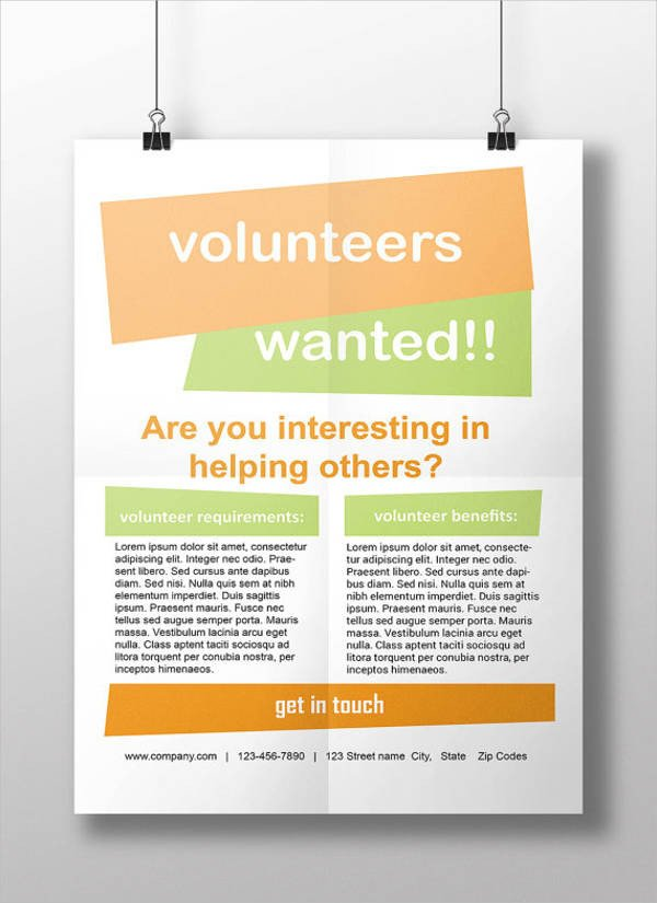 Volunteer Recruitment Flyer Template 11 Volunteer Flyers Ms Word Pages Psd Vector Eps