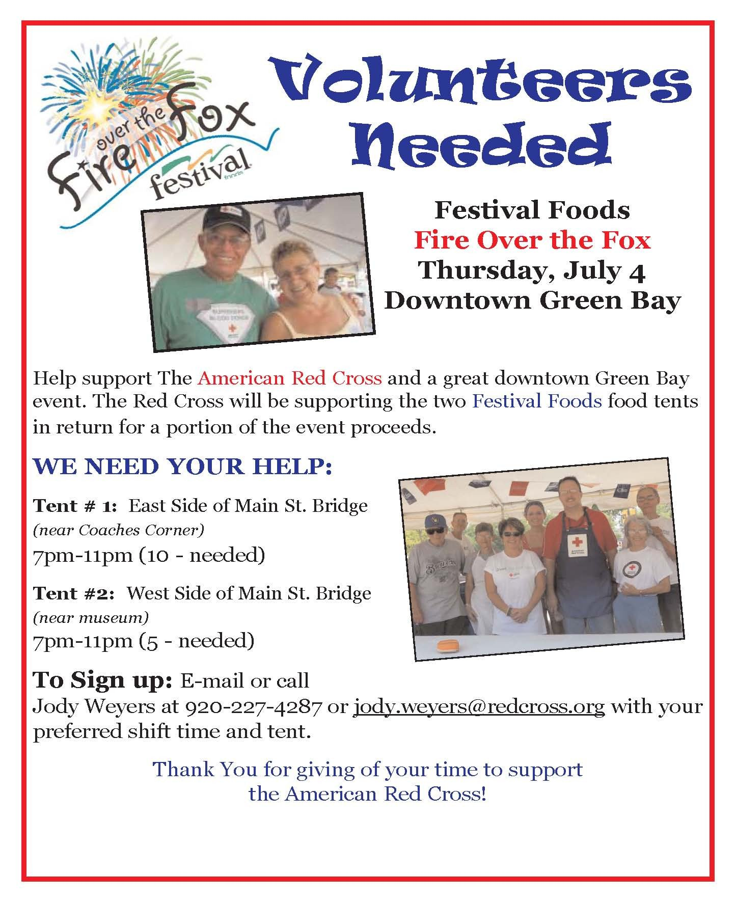 Volunteer Recruitment Flyer Template Volunteers Needed July 4th Festival Foods Fire Over the
