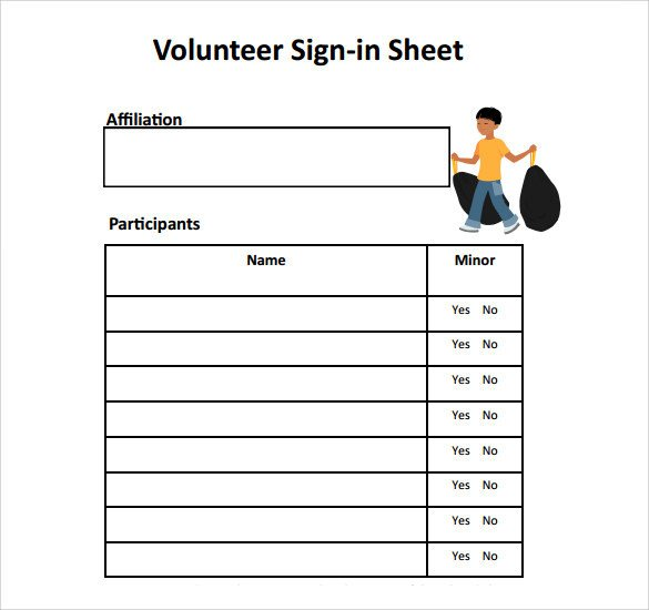 Volunteer Sign In Sheet 34 Sample Sign In Sheet Templates Pdf Word Apple Pages