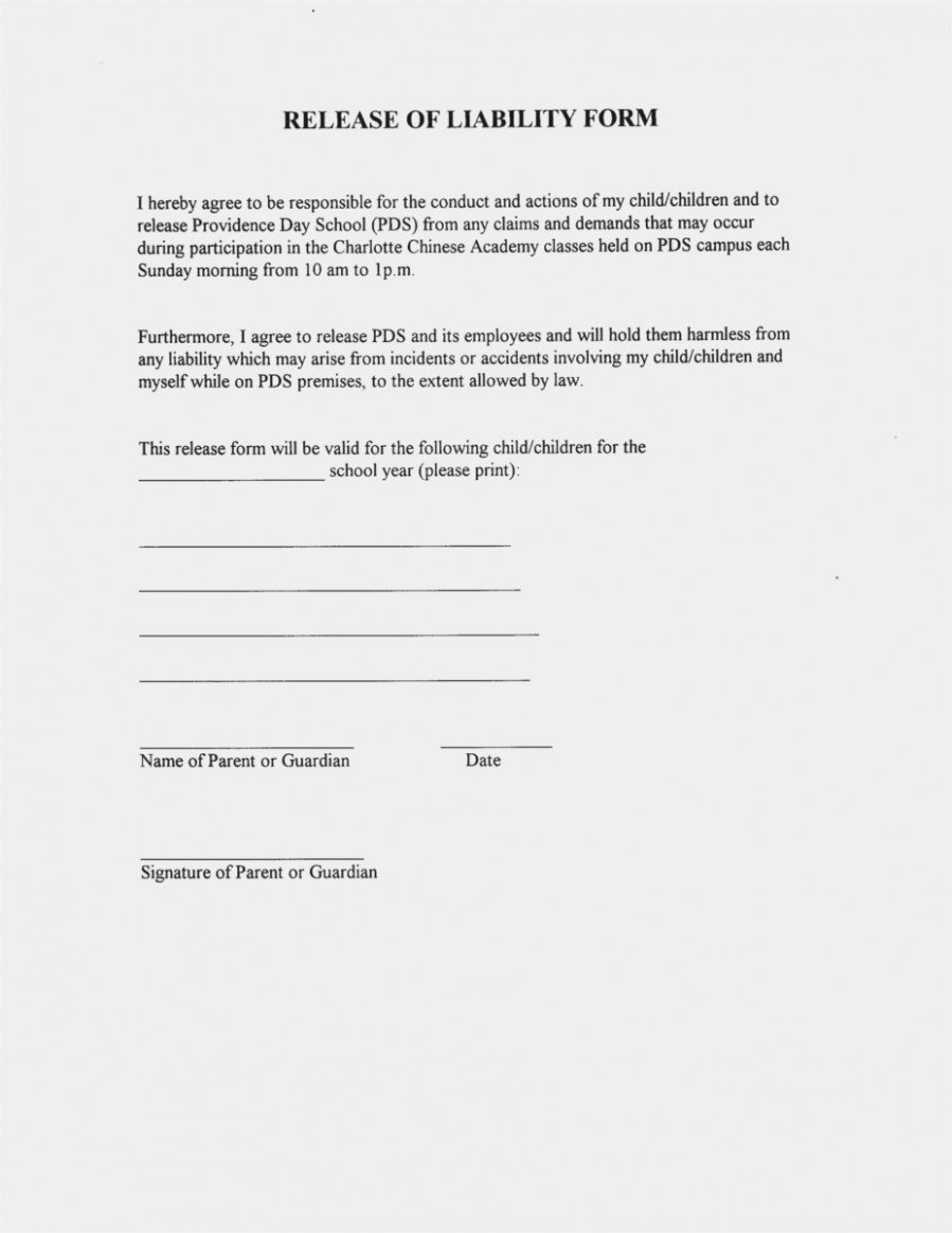 Waiver form Template for Sports This is How Sports Waiver
