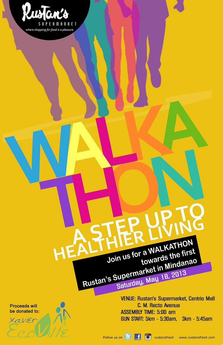 Walkathon Registration form Template Join the Rustan S Fresh Walkathon Bukidnonvoice