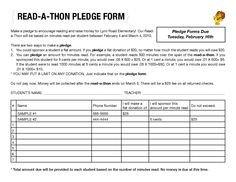 Walkathon Registration form Template Walk A Thon Fundraiser Pledge form Templates