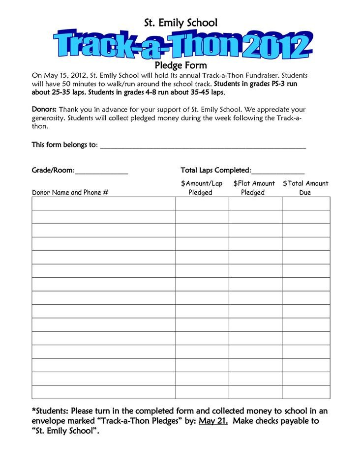 Walkathon Registration form Template Walkathon Pledge form Template Invitation Templates