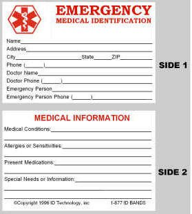 Wallet Id Card Template 10 Best S Of Diabetic Medical Id Card Free Printable