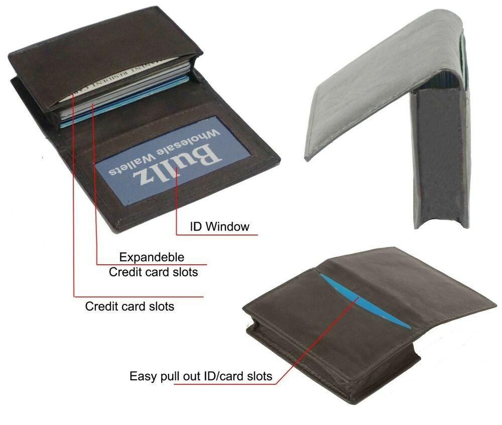 Wallet Id Card Template Leather Credit Card & Id Holder Slim Design Brown Men S