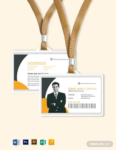 Wallet Id Card Template Security Ficer Id Card Template Download 274 Id Cards