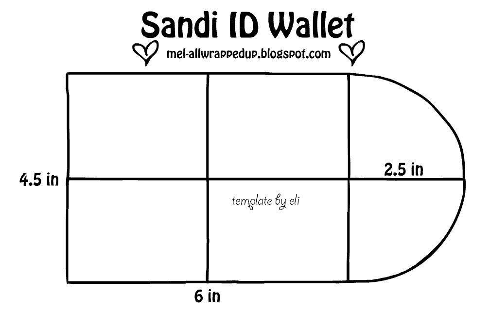Wallet Id Card Template the Sandi Id Wallet Tutorial A Snap Pouch with A Secret
