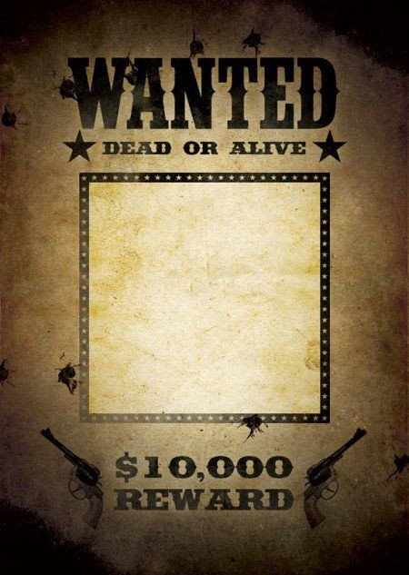 Wanted Poster Template Free Printable Free Wanted Poster Template Ideas In 2019