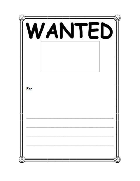 Wanted Poster Template Free Printable Wanted Poster Template Fbi and Old West Free
