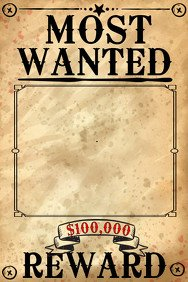 Wanted Poster Template Free Printable Wanted Poster Templates