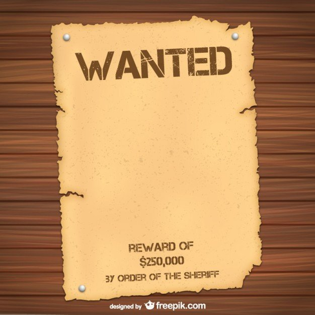 Wanted Poster Template Free Wanted Poster Template Vector