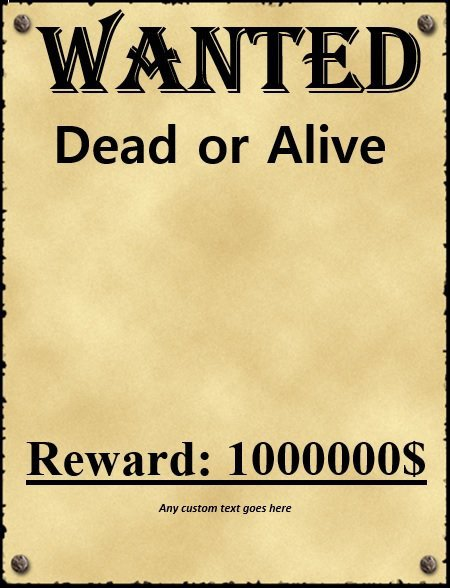 Wanted Poster Template Microsoft Word 18 Free Wanted Poster Templates Fbi and Old West Free