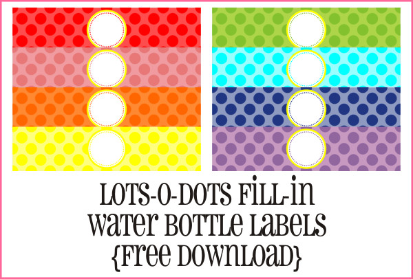 Water Bottle Label Template Free the Crew Introducing Yra Rivera Piggy Bank Parties