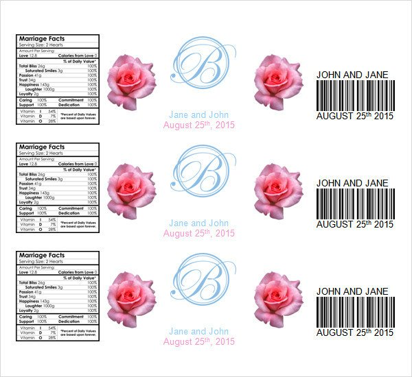 Water Bottle Label Template Free Water Bottle Label Template 23 Download In Psd Word