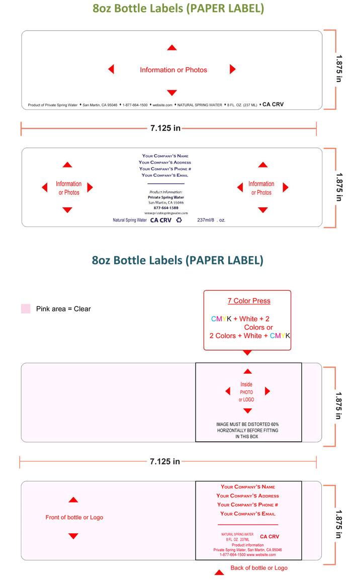 Water Bottle Label Template Free Water Bottle Label Template Make Personalized Bottle Labels