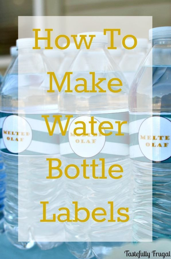Water Bottle Label Template Word How to Make Water Bottle Labels In Word