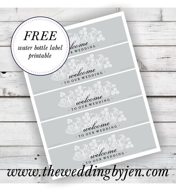 Water Bottle Labels Free Template Great Tips On Wedding Wel E Bags and A Free Water Bottle