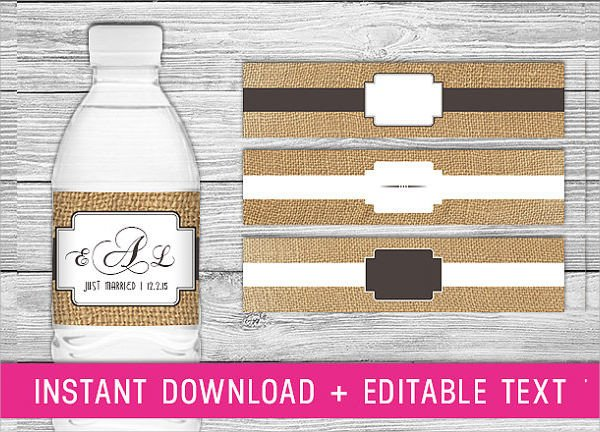 Water Bottle Labels Free Template Water Bottle Label Template 23 Download In Psd Word