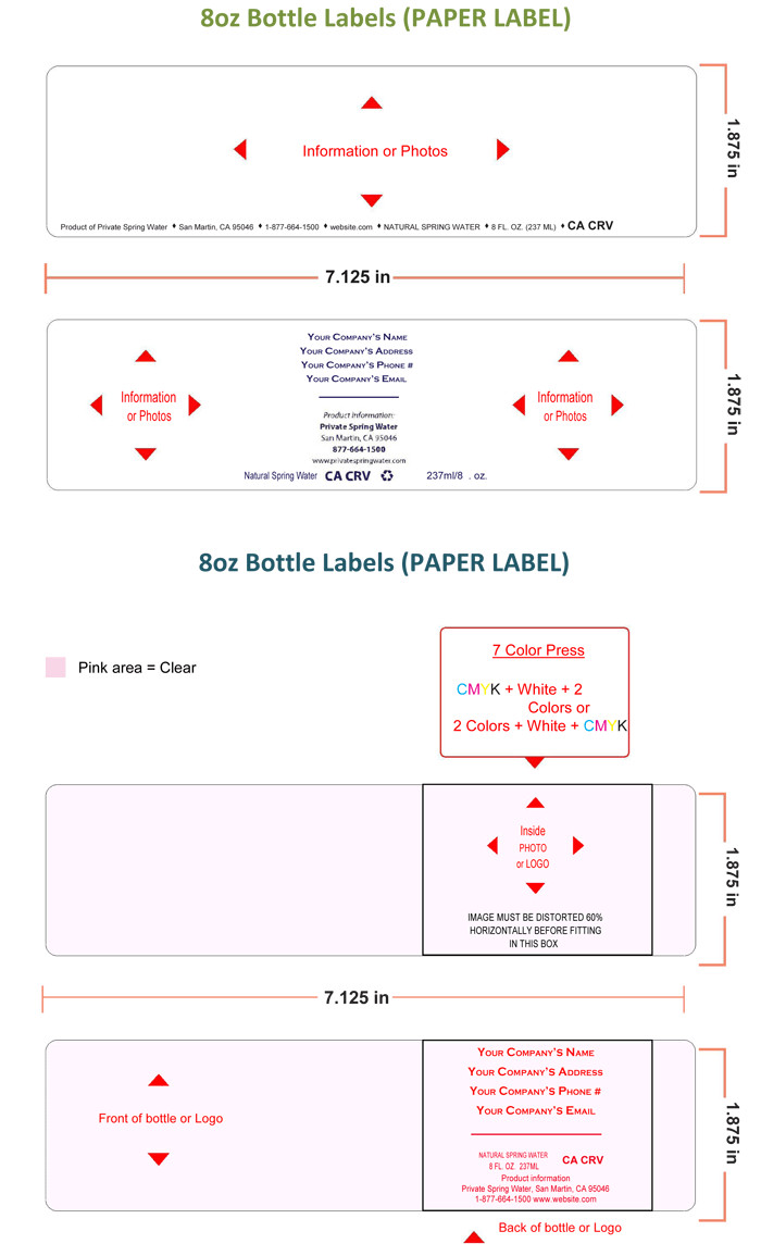 Water Bottle Labels Template Water Bottle Label Template Make Personalized Bottle Labels