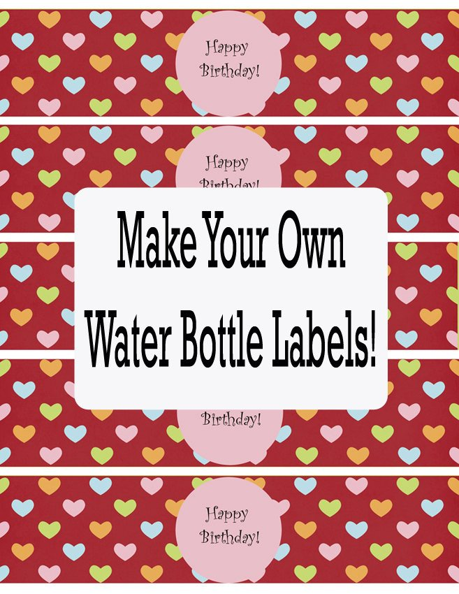 Water Bottle Labels Template Water Bottle Labels Template