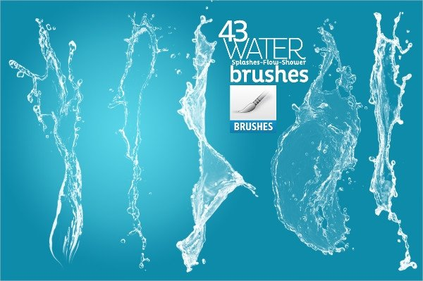 Water Drop Brush Photoshop 16 Water Splash Brushes Free Psd Abr Eps format