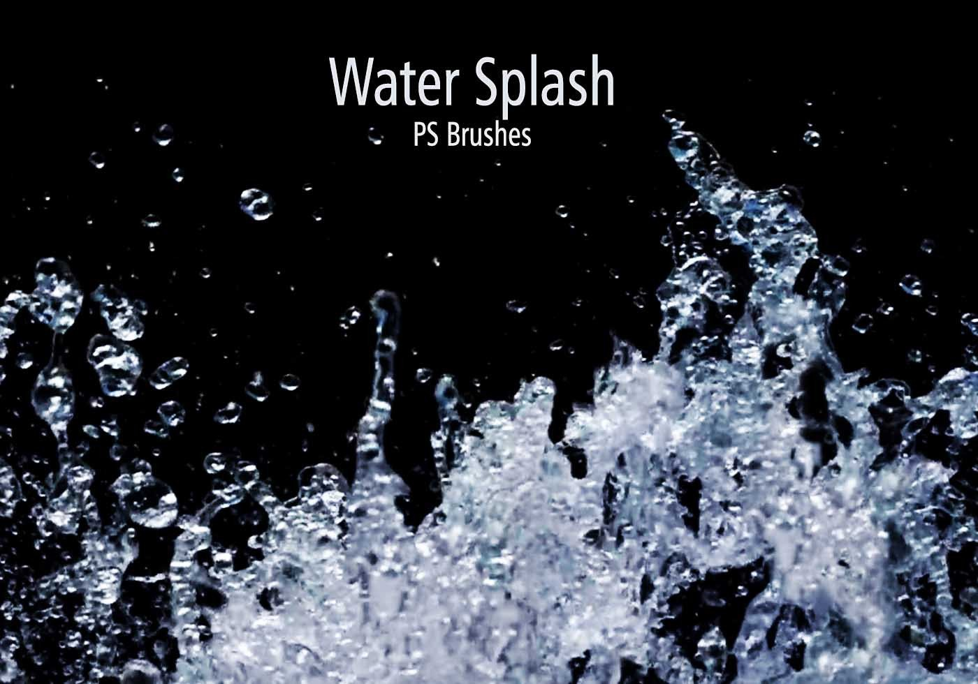 Water Splash Brush Photoshop 20 Water Splash Brushes Abr Vol 1 Free Shop Brushes