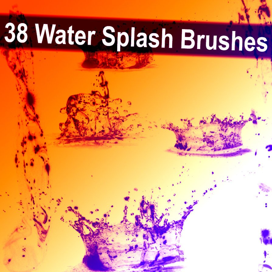 Water Splash Brush Photoshop 38 Water Splash Brushes by Xresch On Deviantart