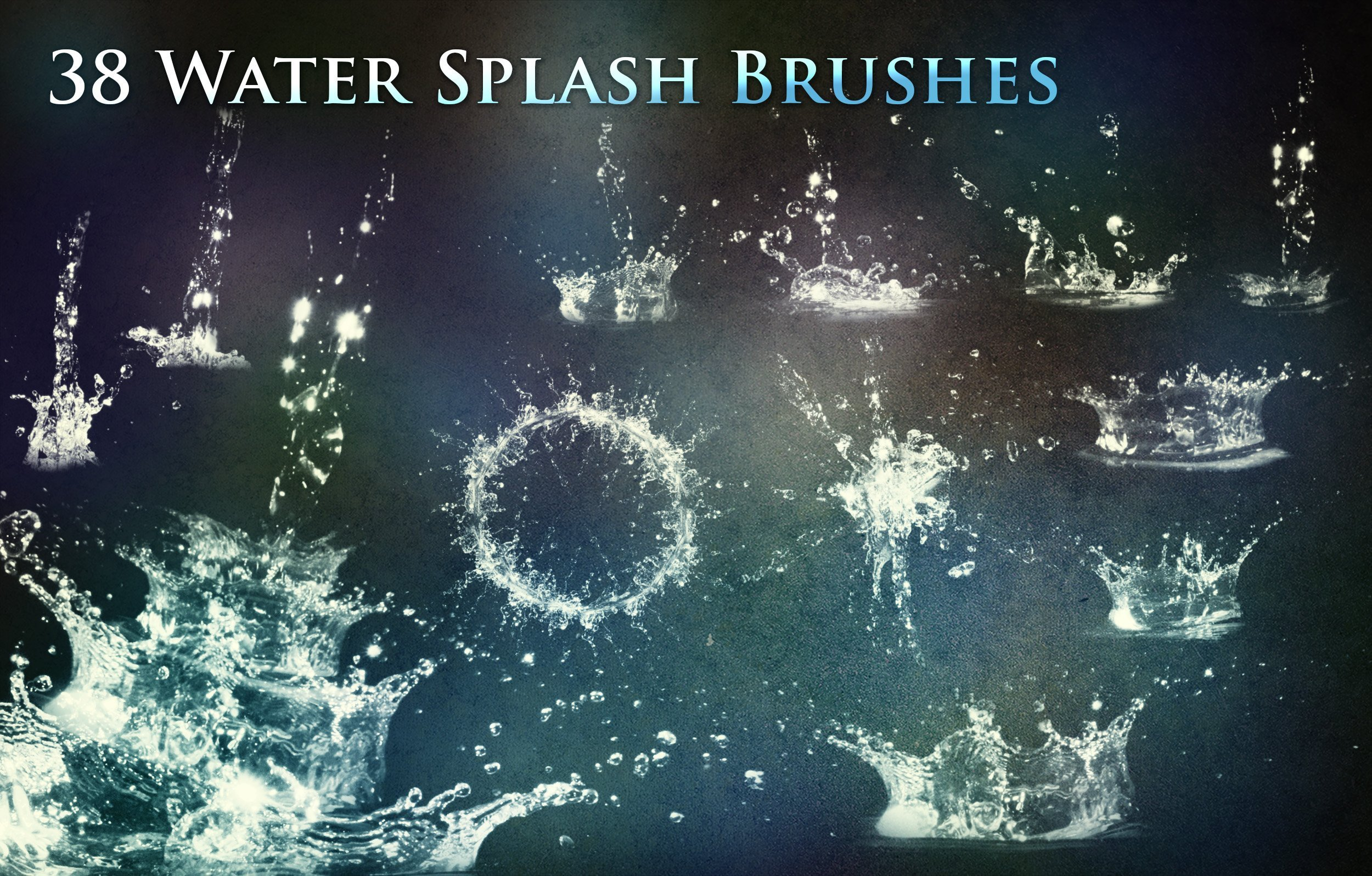 Water Splash Brush Photoshop 38 Water Splash Brushes Shop Add S Creative Market