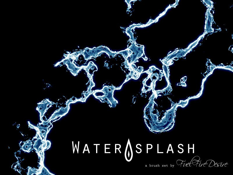Water Splash Brush Photoshop Water Splash Brushes by Fuelfiredesire On Deviantart