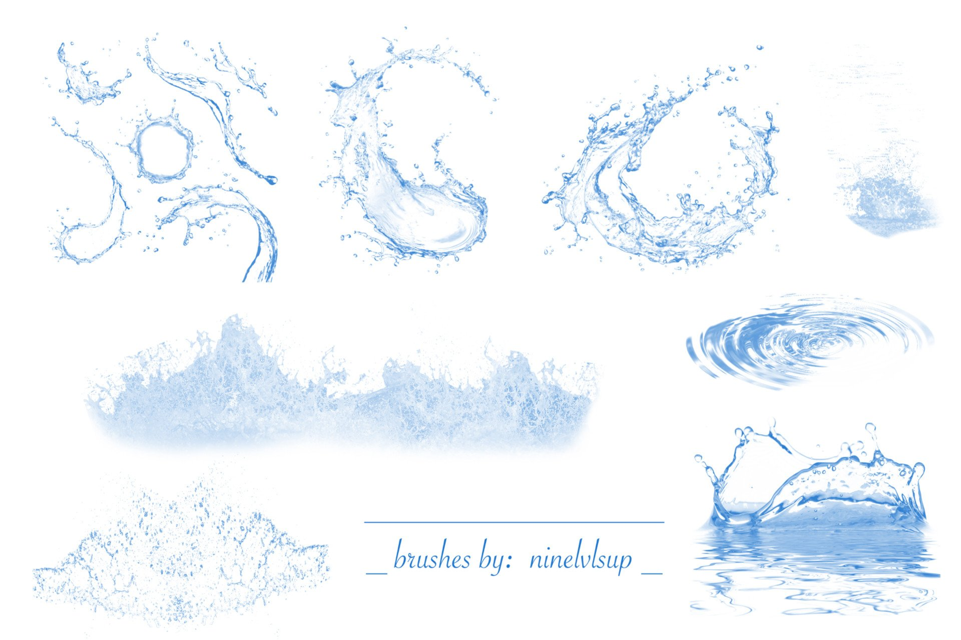 Water Splash Brush Photoshop Water Splash Brushes by Ninelvlsup On Deviantart