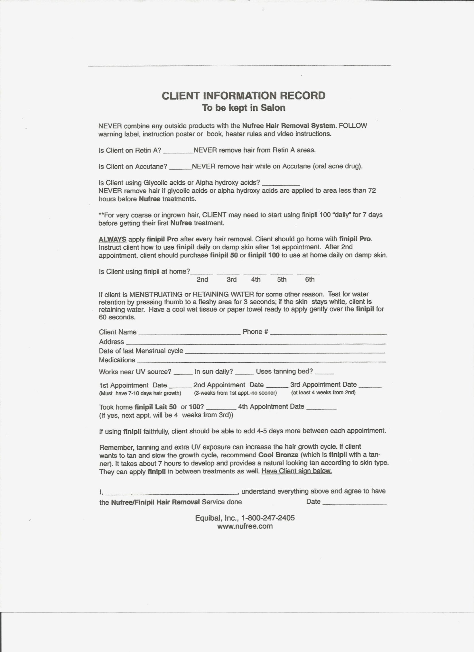 Waxing Consultation form Template Five Easy Ways to Facilitate Waxing Client