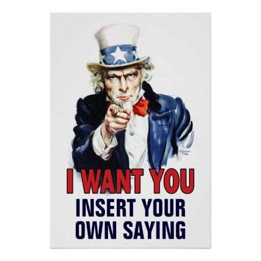 We Want You Poster Classroom Poster I Want You Customize