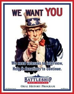 We Want You Poster oral History Battleship New Jersey