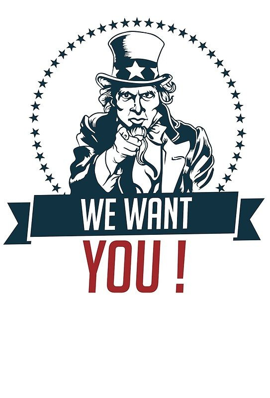 """We Want You Poster """"uncle Sam """"we Want You """" Text"""" by Calinvr"""