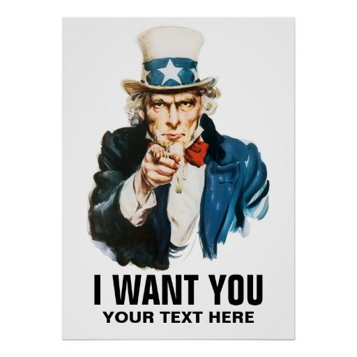 We Want You Poster Uncle Sam I Want You Vintage Poster