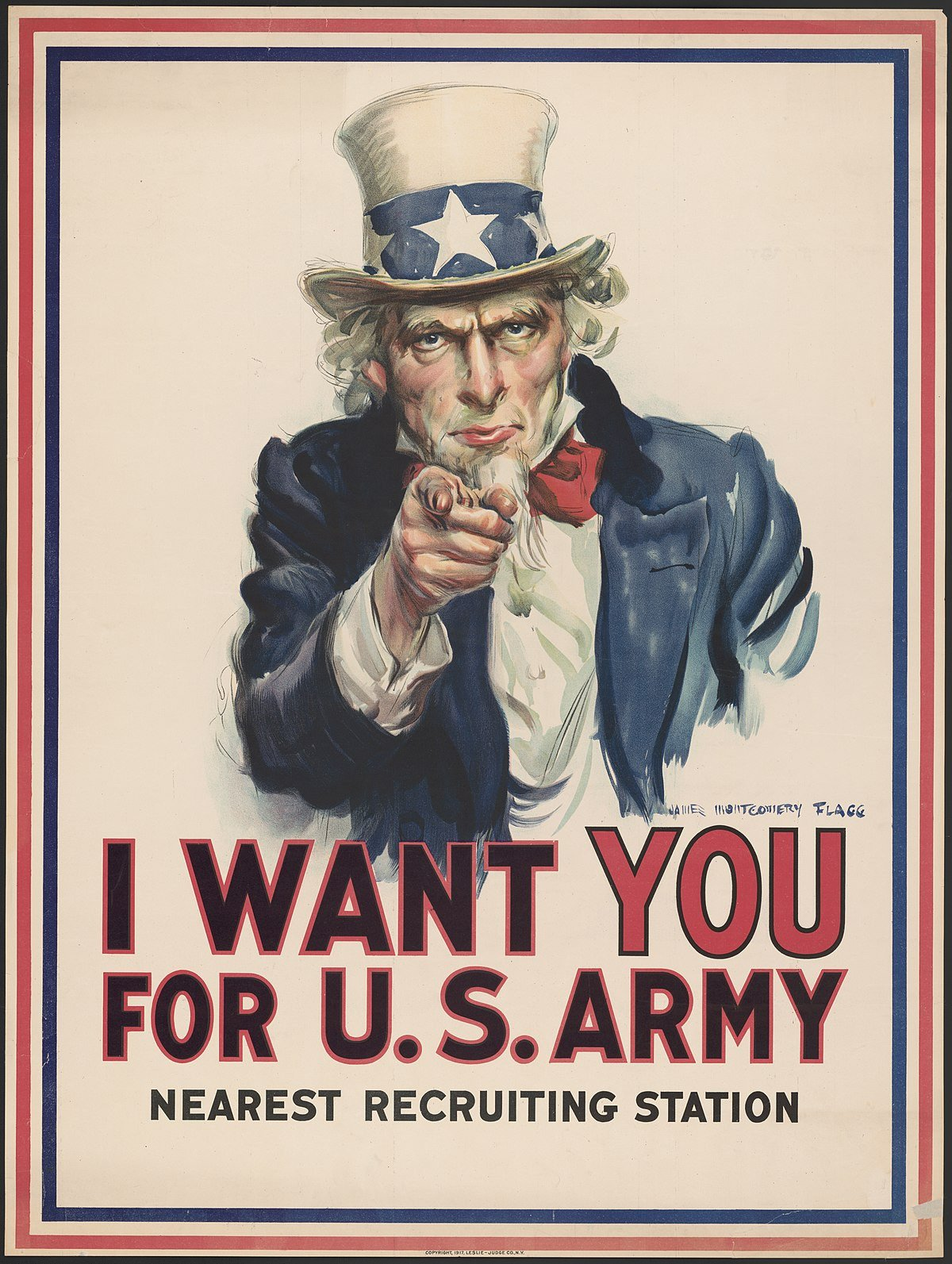 We Want You Poster Uncle Sam