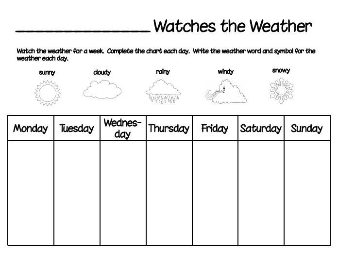 Weather Journal Template Printable Weather Chart Cub Scouts Pinterest