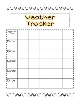 Weather Journal Template Student Science Weather Journal Template by Creatively