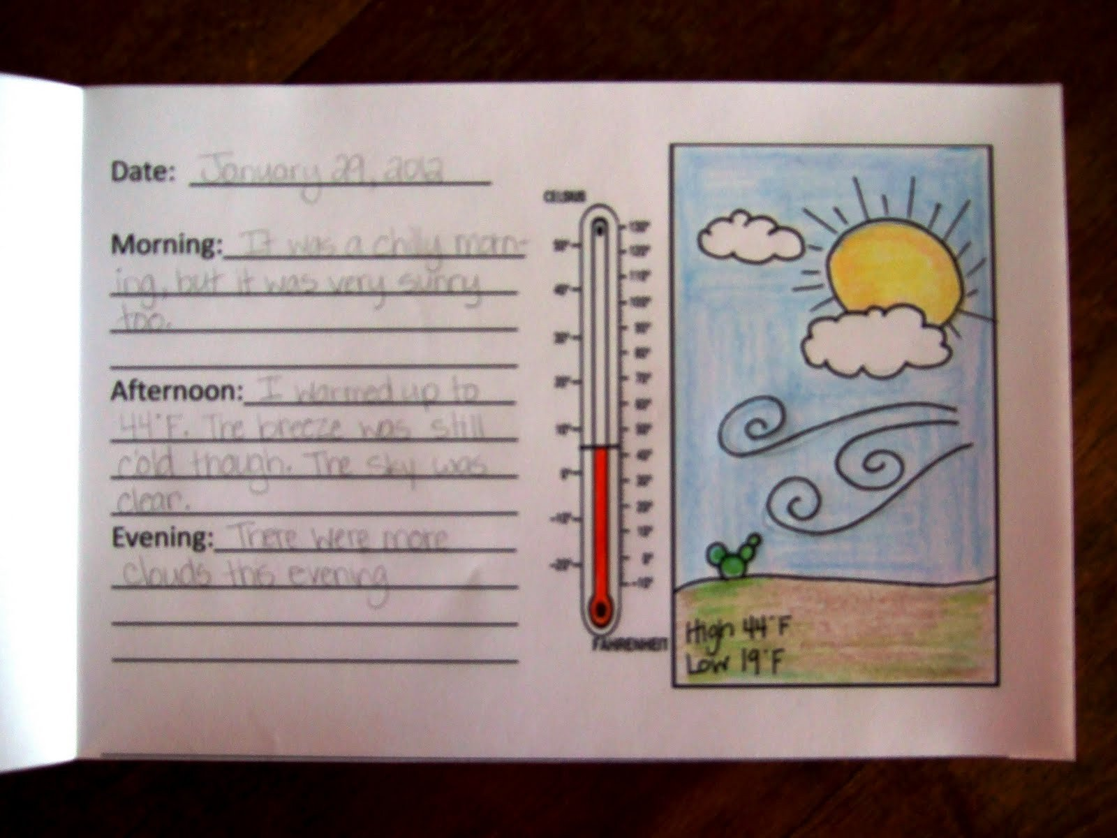 Weather Journal Template the Inspired Classroom Weather Journal
