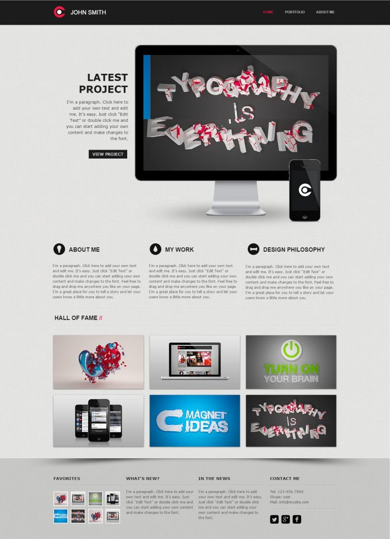 Web Developer Portfolio Templates 10 Best Web Developer Website Templates