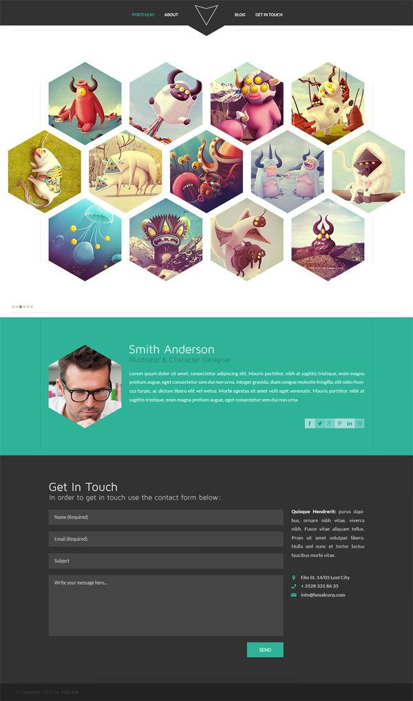 Web Developer Portfolio Templates 20 Free High Quality Psd Website Templates Hongkiat