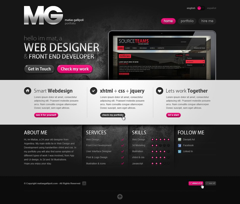 Web Developer Portfolio Templates Deviantart Web Design Showcase Portfolio Templates